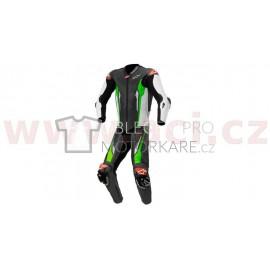 Jednodílná kombinéza RACING ABSOLUTE 1, TECH-AIR kompatibilní, ALPINESTARS (černá/bílá/zelená fluo)